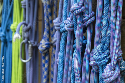 Foto op Plexiglas Alpinisme Bergsteigen, Ausrüstung, Seile