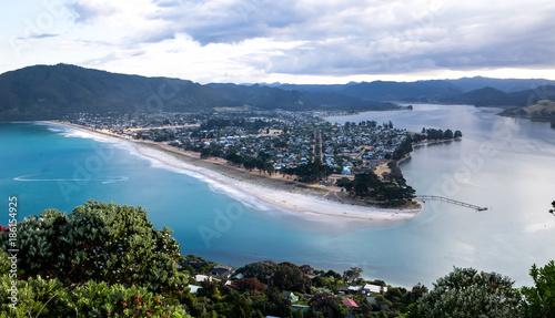 Fotografie, Obraz  New Zealand, View at Pauanui from Paku Summit
