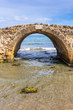 The Venetian Bridge of Argassi in Zakynthos. The bridge is a sightseeing location that many tourists visit. Zakynthos island in Greece, Ionian Sea.