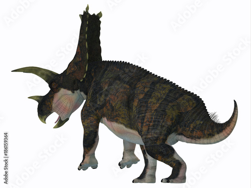Photo  Bravoceratops Dinosaur Tail - Bravoceratops was a herbivorous ceratopsian dinosaur that lived in Texas, USA in the Cretaceous period