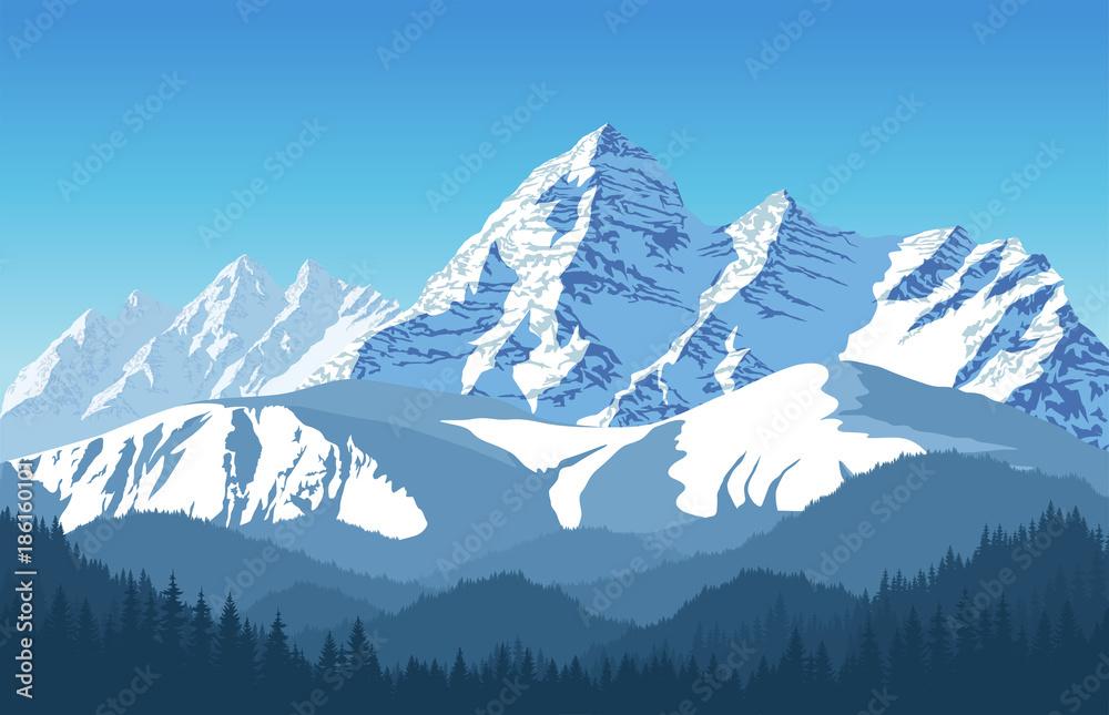 Alps góry krajobraz przy Europa Szwajcaria <span>plik: #186160101 | autor: Save Jungle</span>