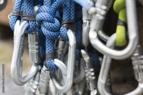 Foto op Canvas Alpinisme Bergsteigen, Ausrüstung, Seile
