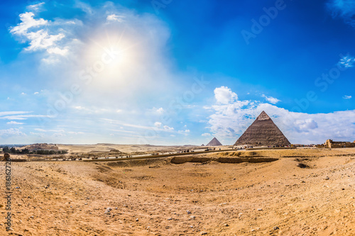 In de dag Egypte Great Pyramids of Giza, Egypt
