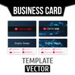 Vector realistic modern creative business card template on a white background, Easy to change for your design. Vector illustration. EPS10