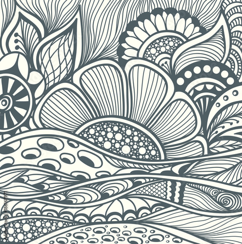 zentangle background pattern black
