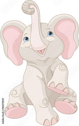 In de dag Sprookjeswereld Baby Elephant