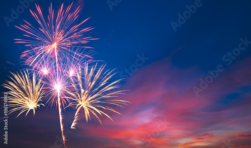 Canvas Prints Countryside fireworks Beautiful sky