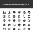 Communication Media Icons Set