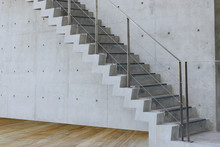 Concrete Staircase With Concre...