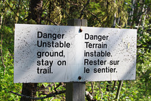 Danger Unstable Ground, Stay O...