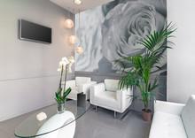 Waiting Room Of A Beauty Or Hair Salon.