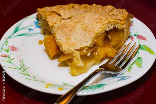 Photo  last piece of a delicious peach pie