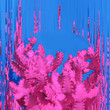 Leinwanddruck Bild - Pink Cactus. Contemporary Art. Glitch Mood. Minimal design fashion