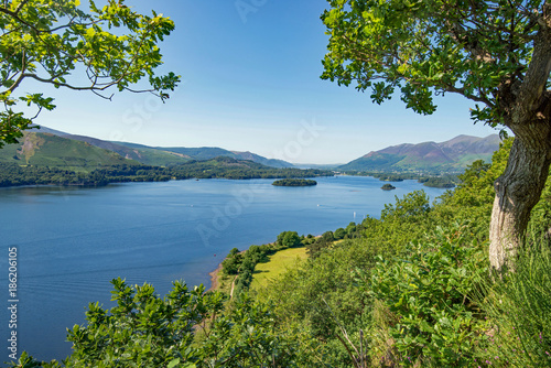 Slika na platnu Derwentwater looking towards Keswick in the Lake District National Park, Cumbria