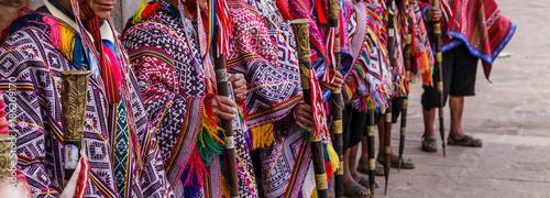 Stampa su Tela Pisac market, Folklore, Peru
