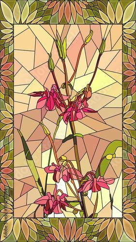 wektorowa-ilustracja-kolombiny-kwiaty
