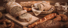 Various Baked Breads And Rolls...