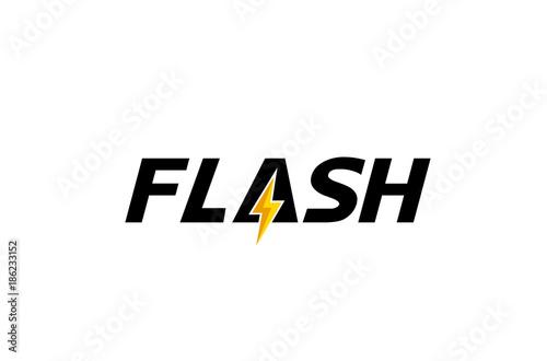 Obraz Creative Letter Flash Text  Symbol Design Illustration - fototapety do salonu
