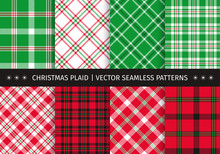 Set Of Christmas Plaid And Tar...