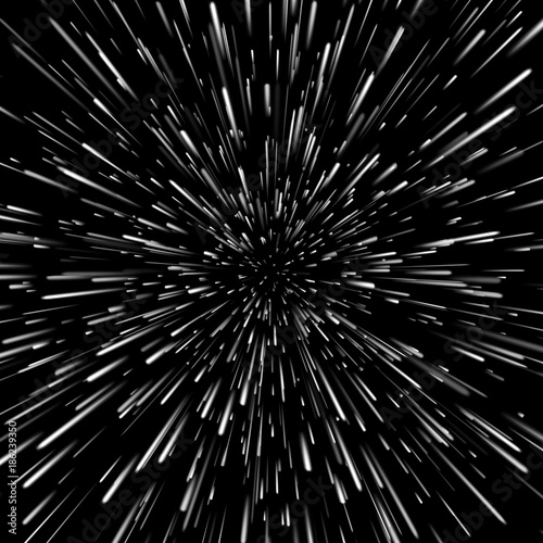 Obraz na plátne Vector abstract background with Open Space Star Warp or Hyperspace Travel