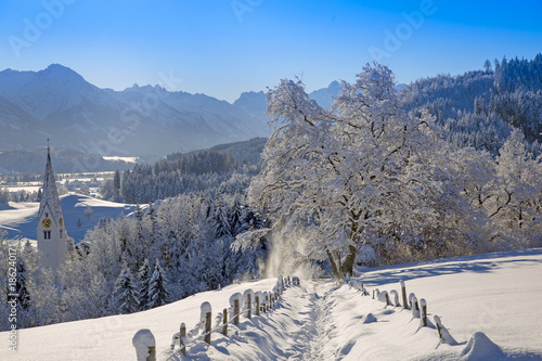 Papiers peints Alpes Allgäu - Winter - Schnee - Traumtag - Winterwonderland - Berge