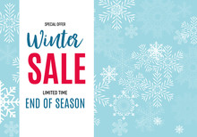 End Of Winter Sale Background,...