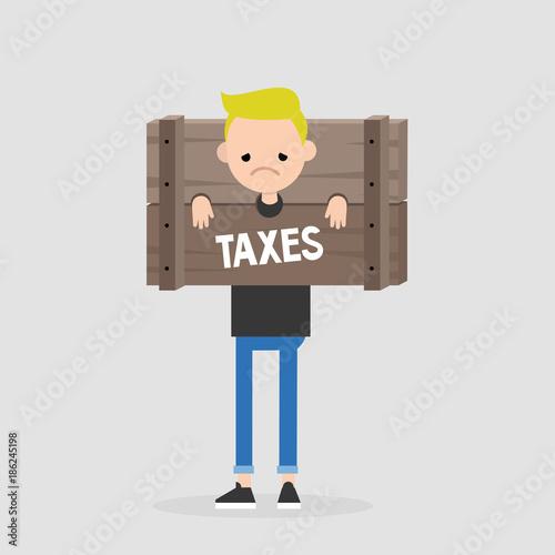 Paying taxes, conceptual illustration Wallpaper Mural