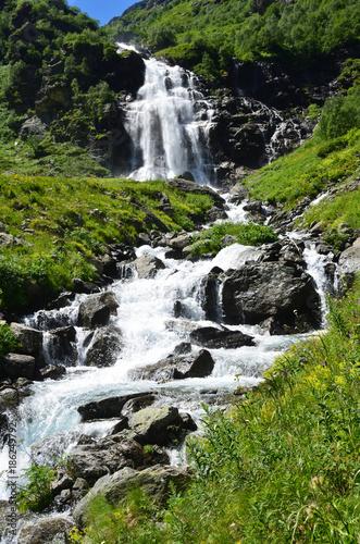 Foto op Canvas Watervallen Западный Кавказ, Имеретинский водопад