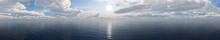 Panorama Of The Sea Sunset.