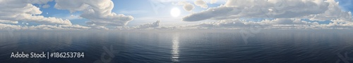 Fototapeta panorama of the sea sunset.