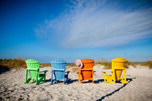 Colorful Adirondack Chairs In Florida