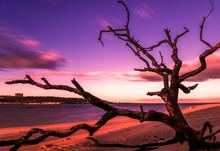 Mystical Sunrise On The Beach