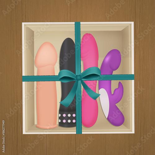 Fotografia, Obraz  sex toys gift