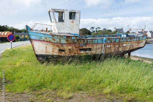 Foto épave de bateau chalutier