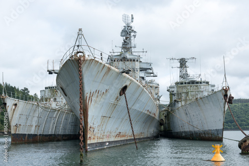 épaves de bateaux militaires Canvas