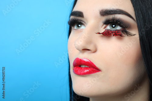 Fototapety, obrazy: Woman with make-up
