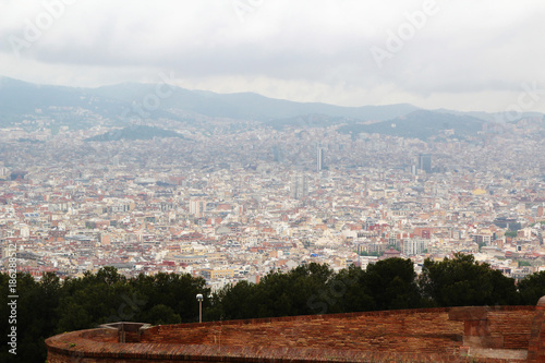 Photo  View of Barcelona from Montjuic fort