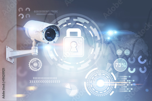 CCTV camera, security HUD