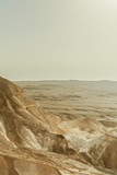 Verical landscape view on dry middle east wilderness in Israel