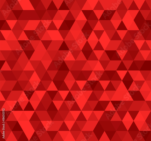 obraz dibond Seamless red abstract pattern. Geometric print composed of triangles and polygons. Ruby background.