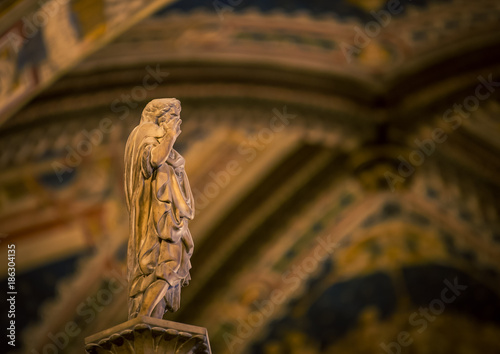 Staande foto Monument religious statue in church in italy