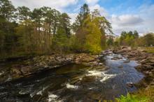 Falls Of Dochart In Killin, Scotland,