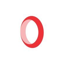 3d Red Ring Logo