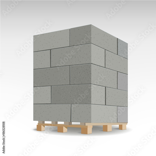 Aerated autoclaved concrete block Canvas Print