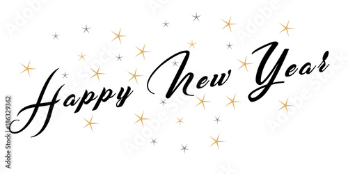 Poster  Happy New year, Szczęśliwego Nowego Roku