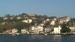 Coastal homes along Bosphorus cruise, POV