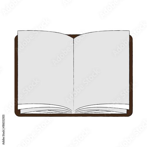Obraz Book open symbol icon vector illustration graphic design - fototapety do salonu