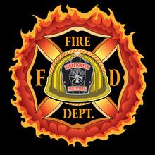 Fire Department Cross Vintage ...