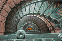 Spiral Staircase In The Currituck Light