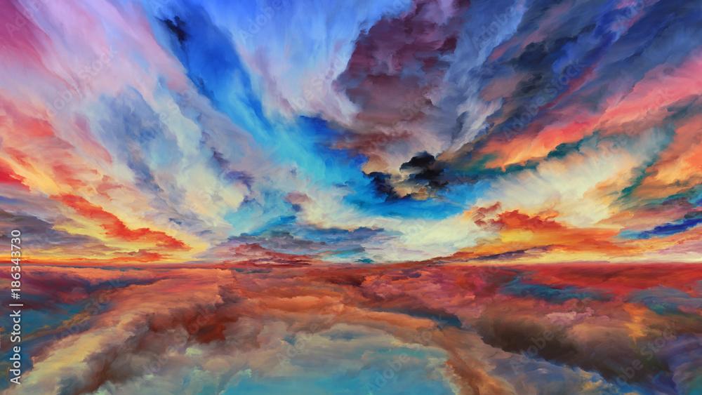 Fototapeta Unfolding of Abstract Landscape